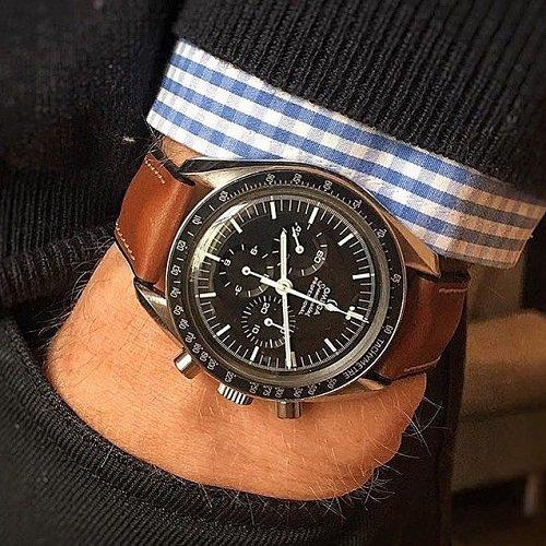 Đồng hồ nổi tiếng thế giới phối với dây da Hirsch bán chạy - Ảnh: 5
